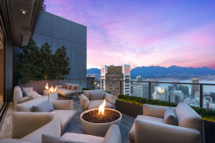 Telus-Garden-penthouse-fireplace-view