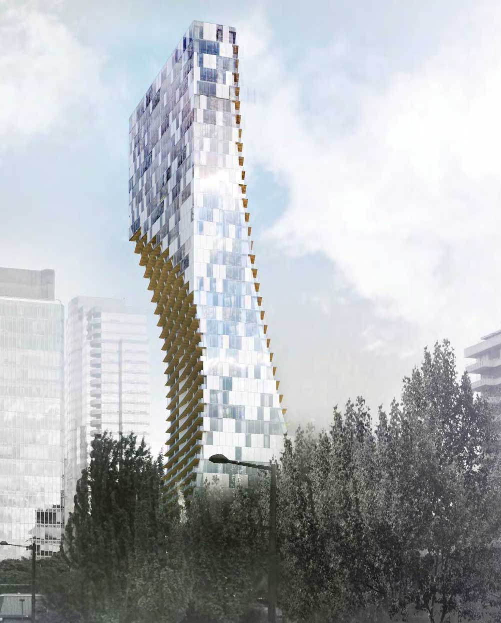 Vancouver Luxury Condos: Curved Luxury Condo Tower Proposed For Coal Harbour