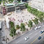 New Vancouver art gallery plaza