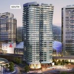 Second tower of rental apartments at Rogers Arena takes shape