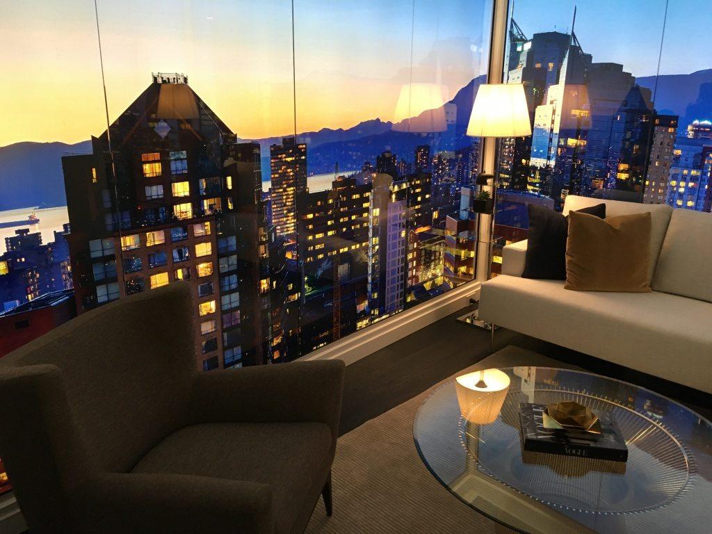 Living room of corner unit