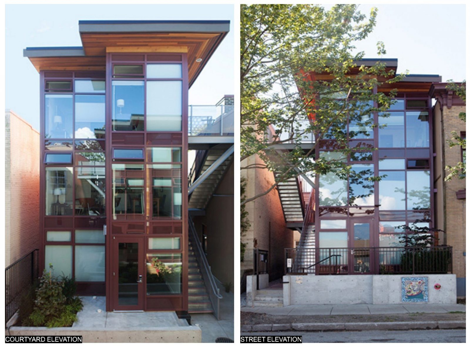 The Oneesan project on Alexander Street, featuring homes made out of shipping containers, was completed in 2013.