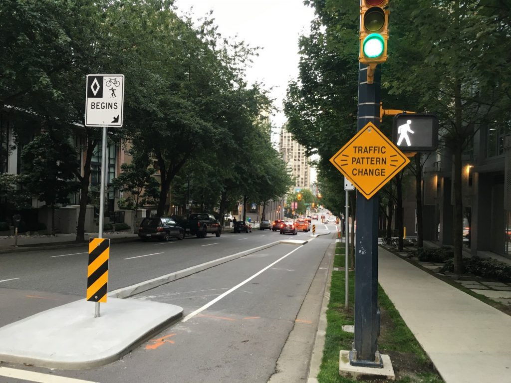 Downtown Vancouver bike lane
