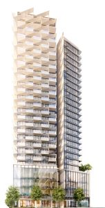 Rendering of Cardero by Bosa, coming soon to Coal Harbour in Vancouver.