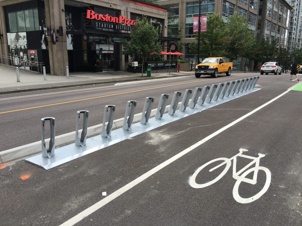 Docking stations for Vancouver bike share installed