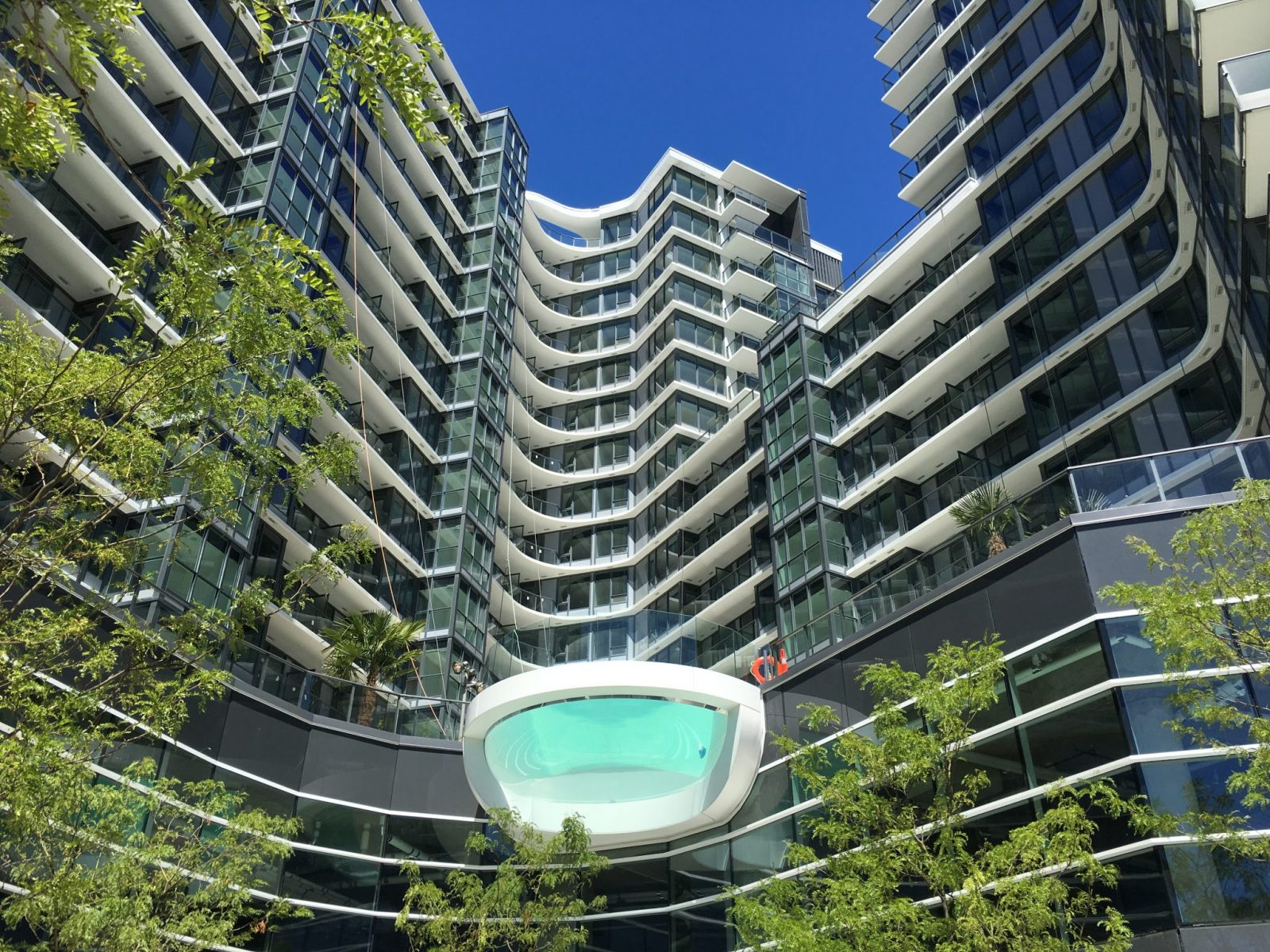 One Pacific Shows Off Dramatic Glass Bottom Pool Urbanyvr