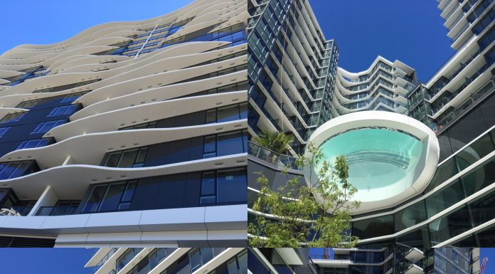 Concord Pacific: Glass-bottom pool at One Pacific