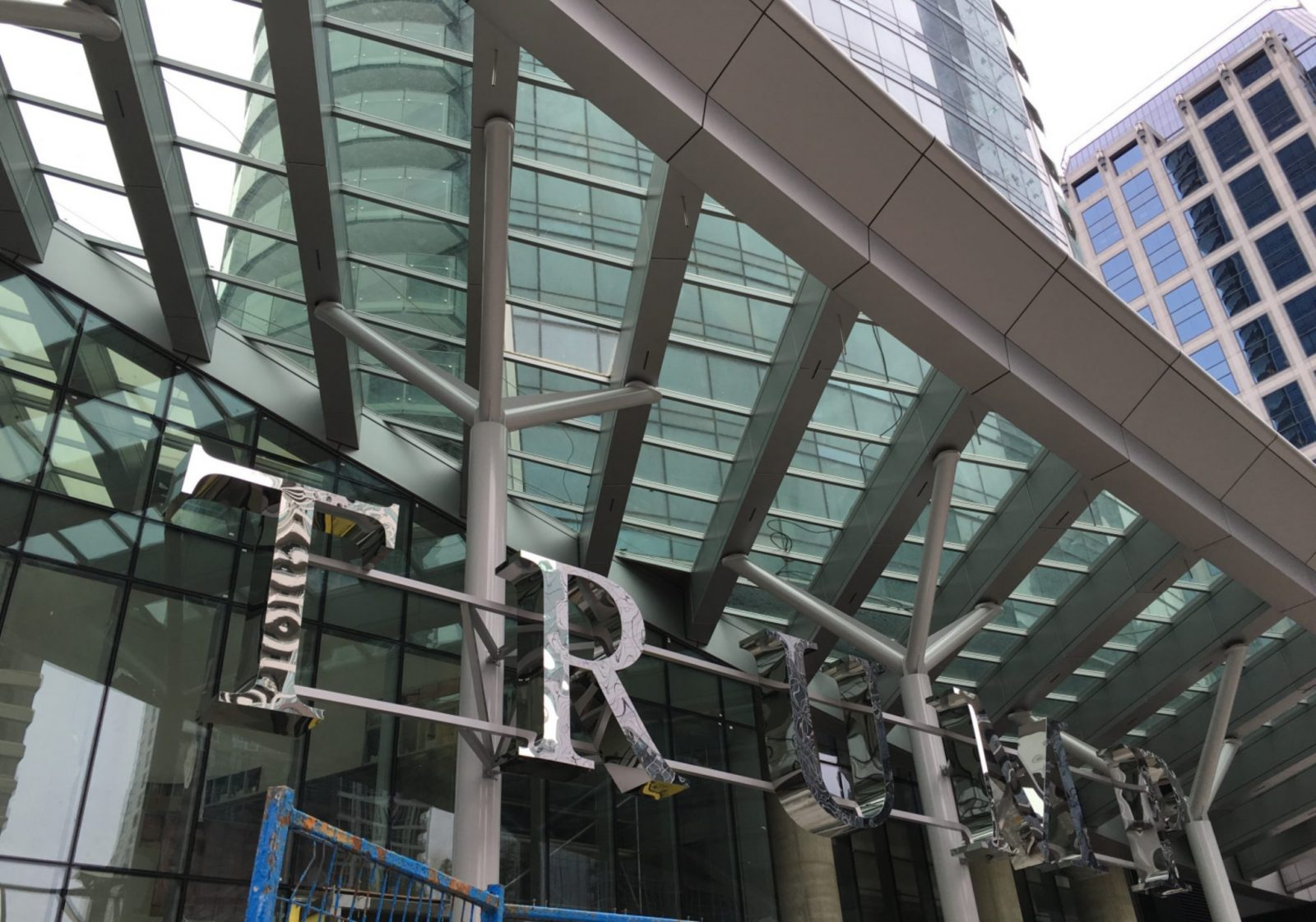 Hard-to-miss Vancouver Trump tower signage goes up