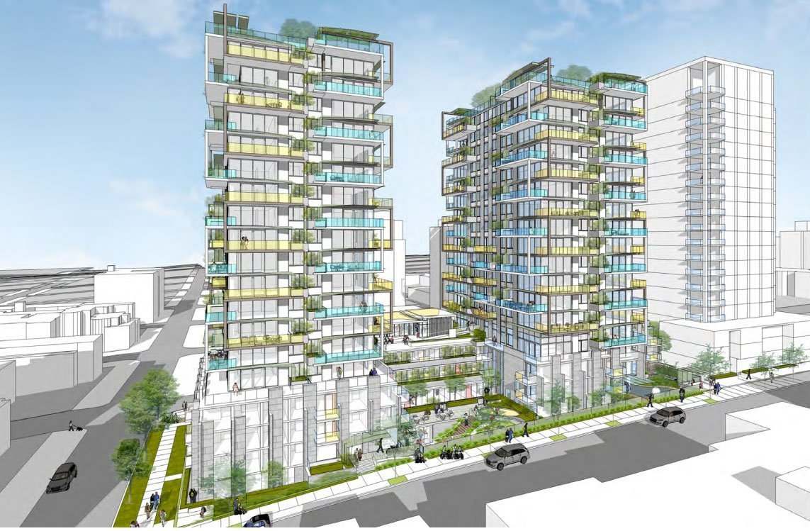 two new condo towers coming to davie street urbanyvr
