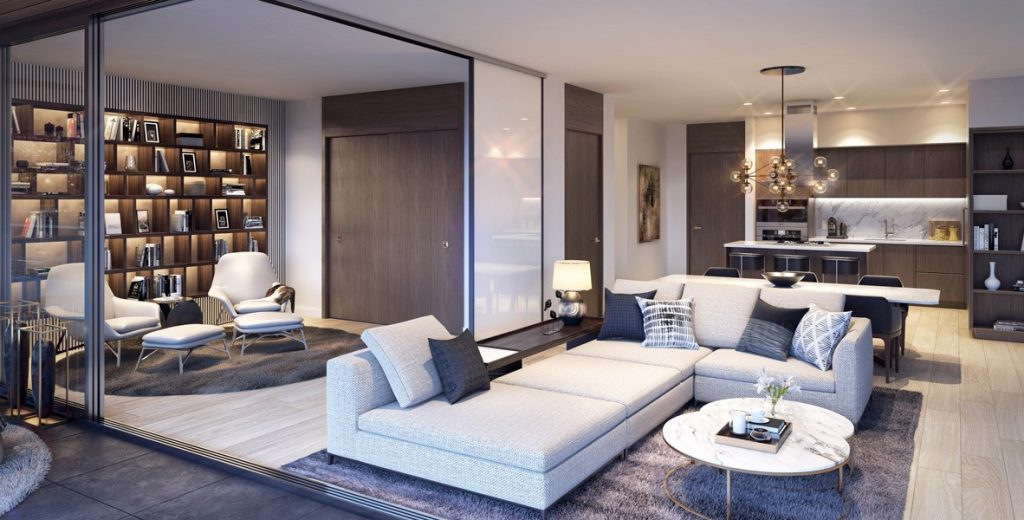 Avenue One living room