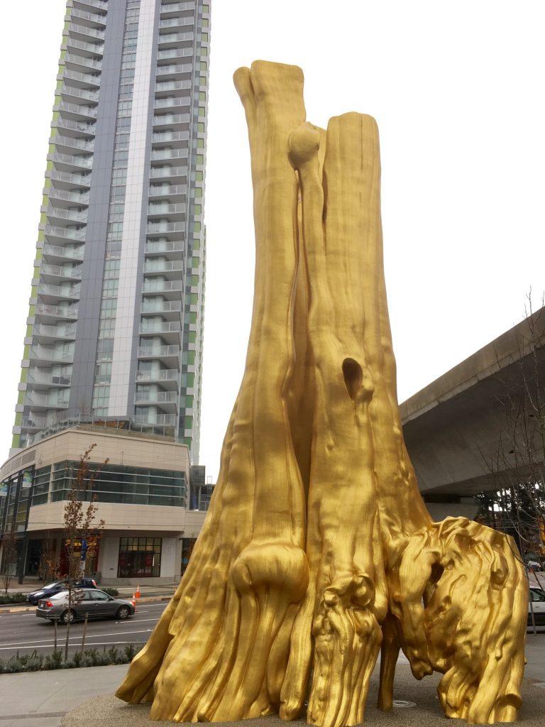 Douglas Coupland Golden Tree public art