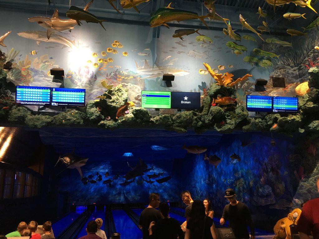 Bass Pro Shops bowling alley