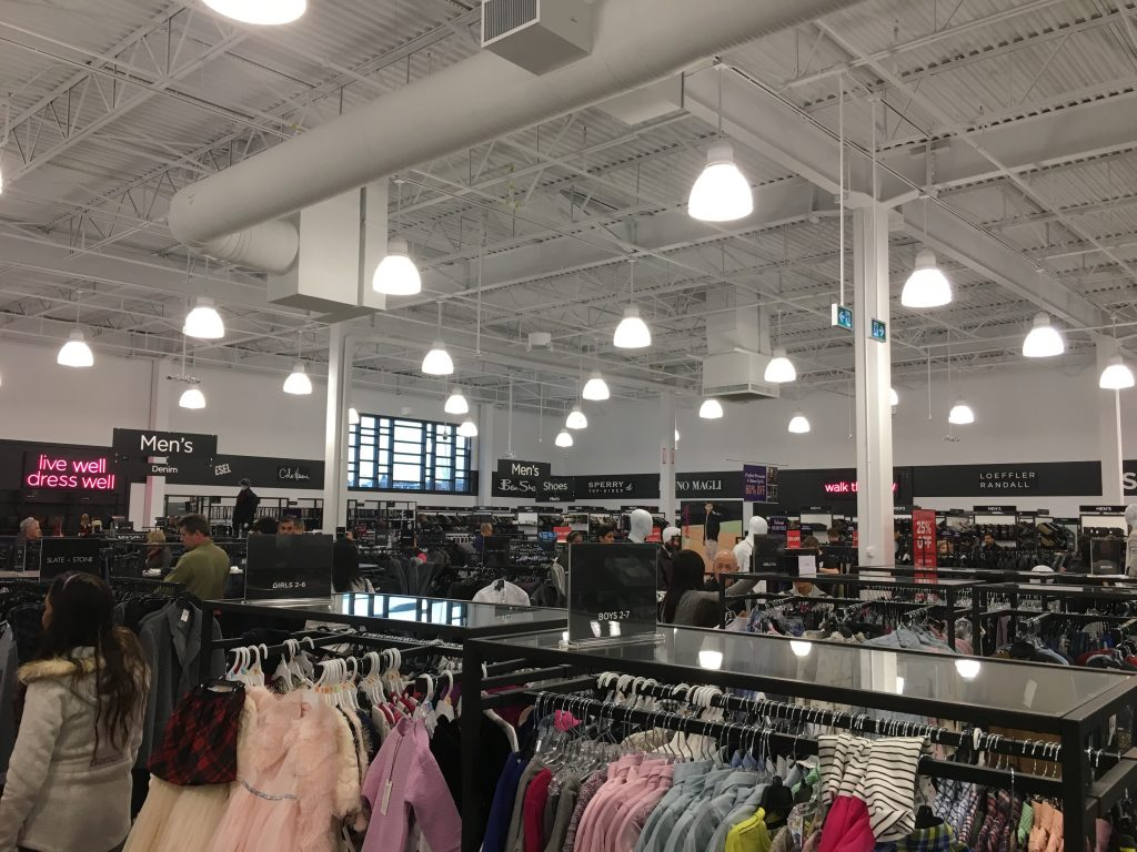 Inside Saks Fifth Avenue Off 5th outlet