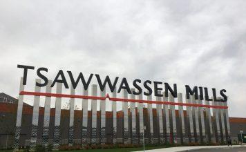 Entrance sign at Tsawwassen Mills