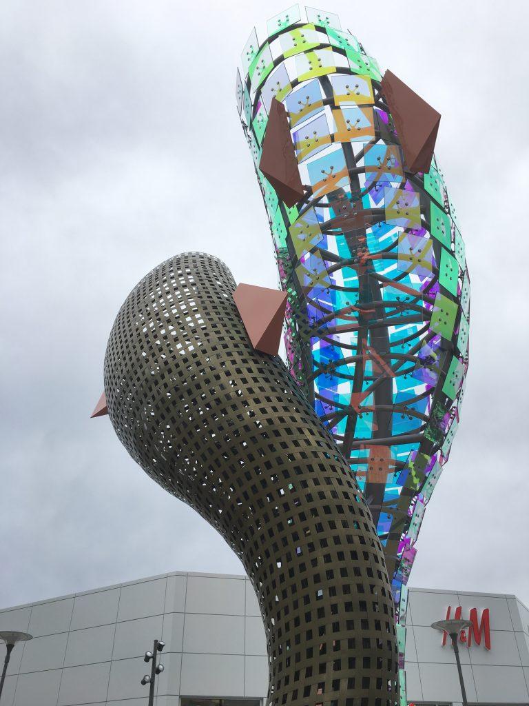 Glass whale public art