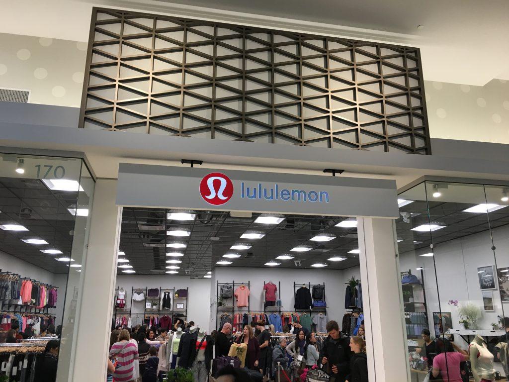 Tsawwassen Mills Lululemon outlet