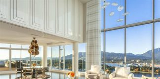 Most expensive Vancouver penthouse living room