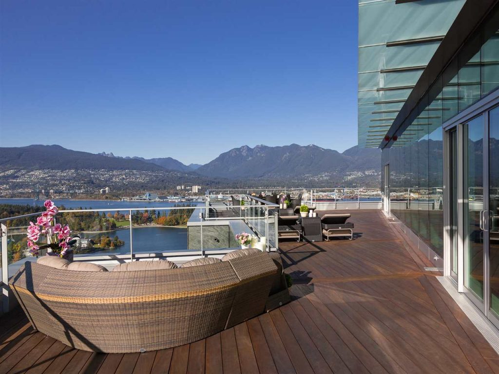 Most expensive Vancouver penthouse outdoor space
