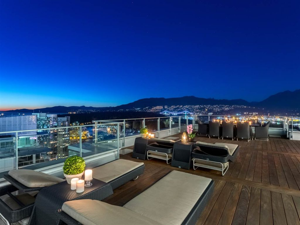 Most expensive Vancouver penthouse patio