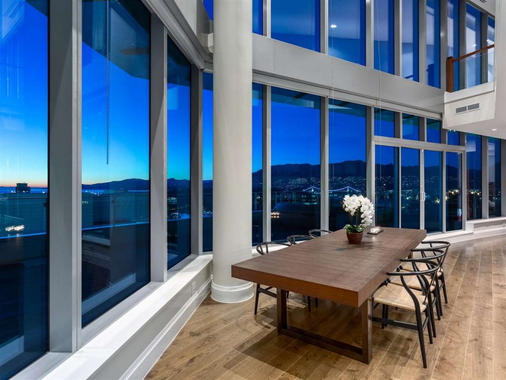 Most expensive Vancouver penthouse dining room