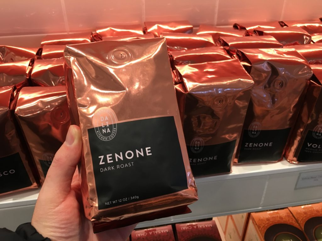 Zenone dark roast coffee