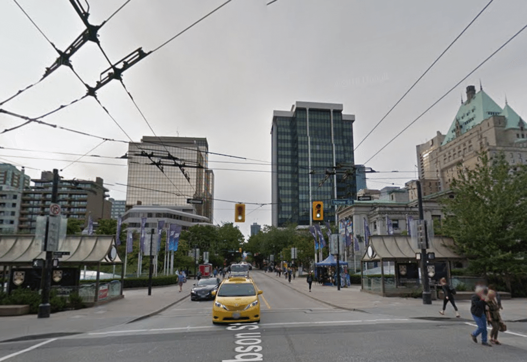 Robson Street plaza