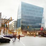 Angled glass office building proposed for Cambie and West 8th
