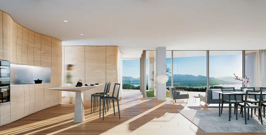 Kitchen at Alberni by Kengo Kuma - 1550 Alberni