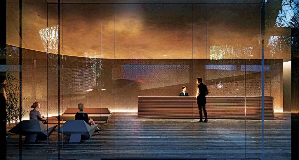 Lobby at Alberni by Kengo Kuma - 1550 Alberni