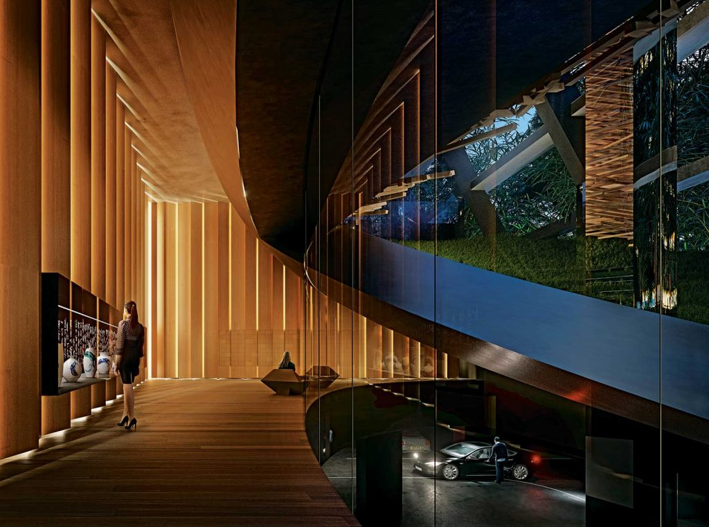 Mailroom at Alberni by Kengo Kuma - 1550 Alberni