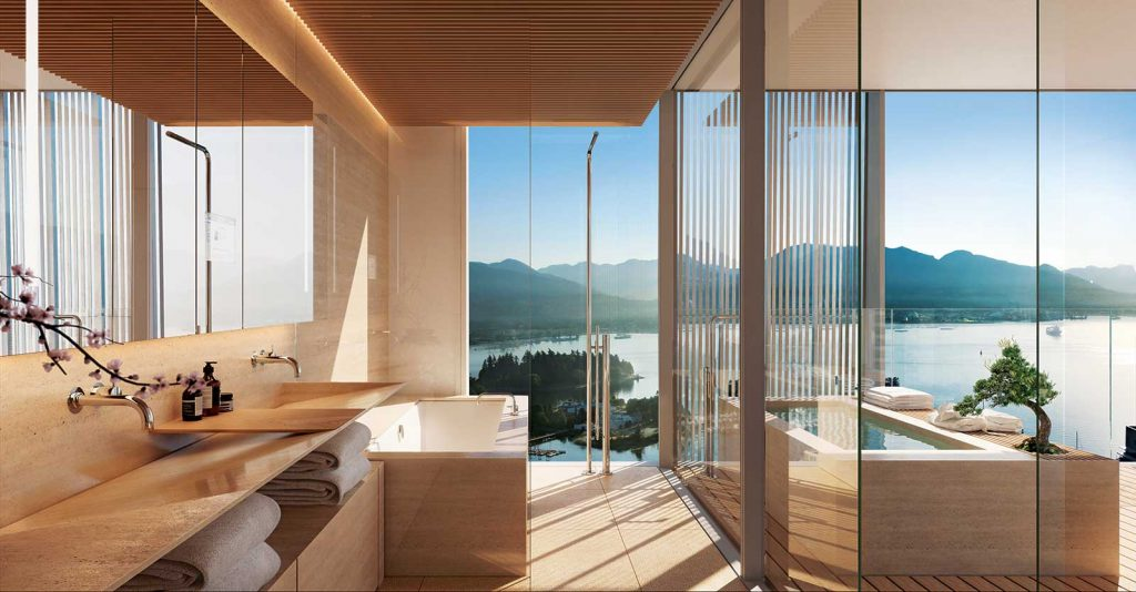 Bathroom at Alberni by Kengo Kuma - 1550 Alberni