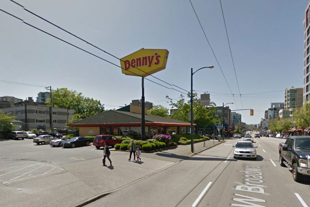 The current Denny's site.