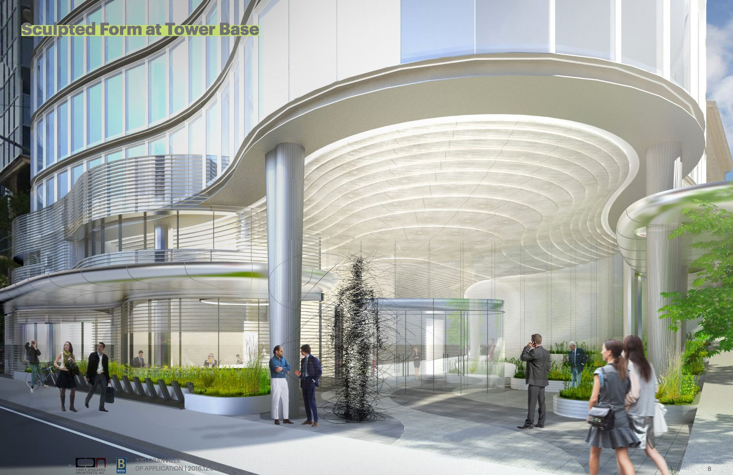 Bosa office building entrance urbanyvr for House plans with separate office entrance