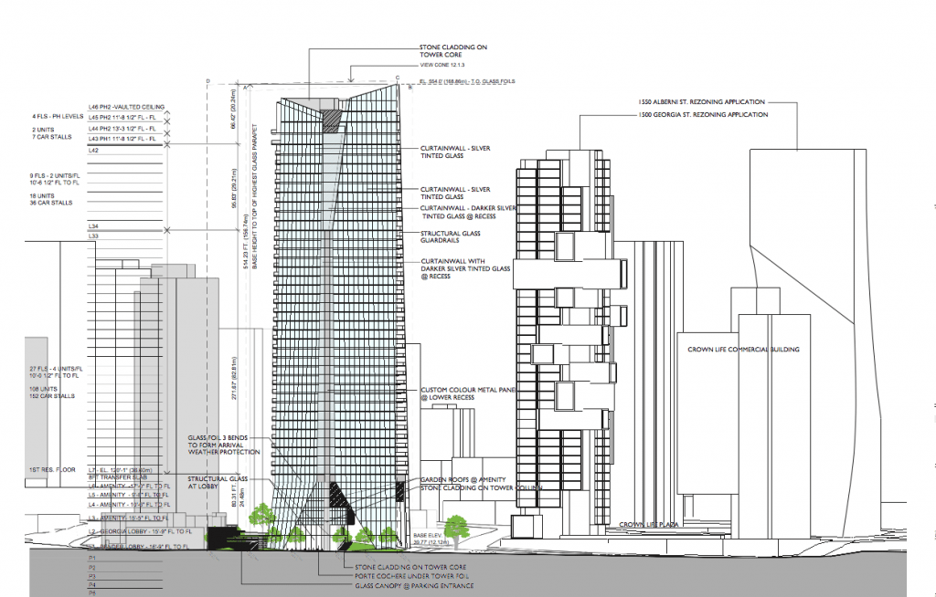 Flat Iron Tower Vancouver drawings