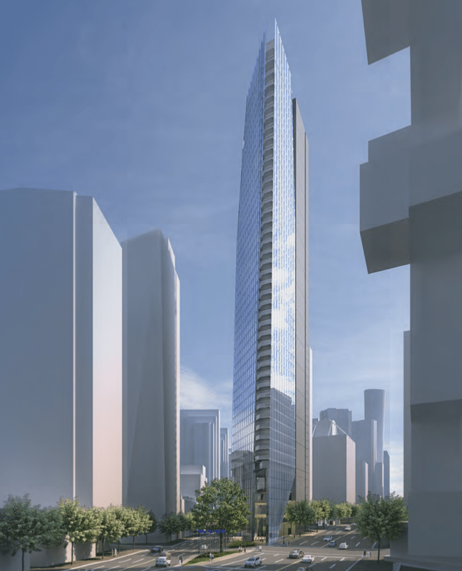 Flat Iron Tower Vancouver rendering