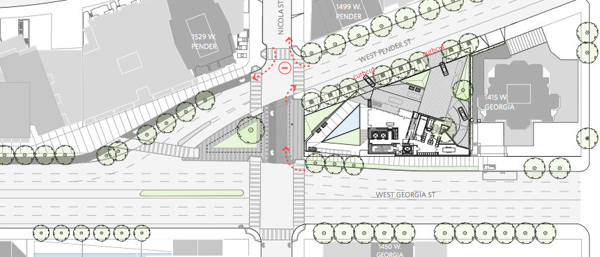 Flat Iron Tower Vancouver site plan