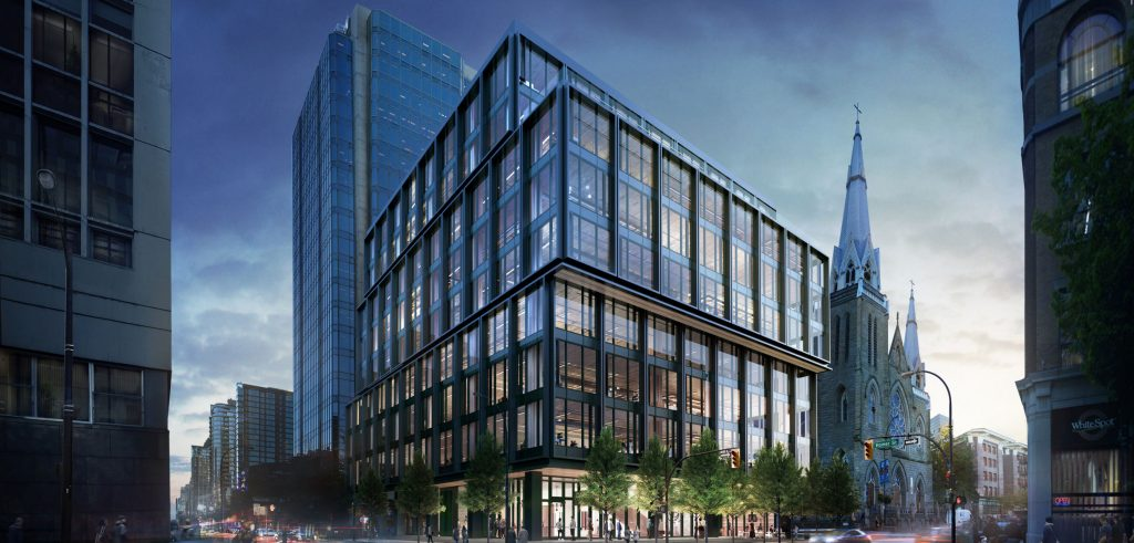 New office building proposed downtown at Dunsmuir and Homer