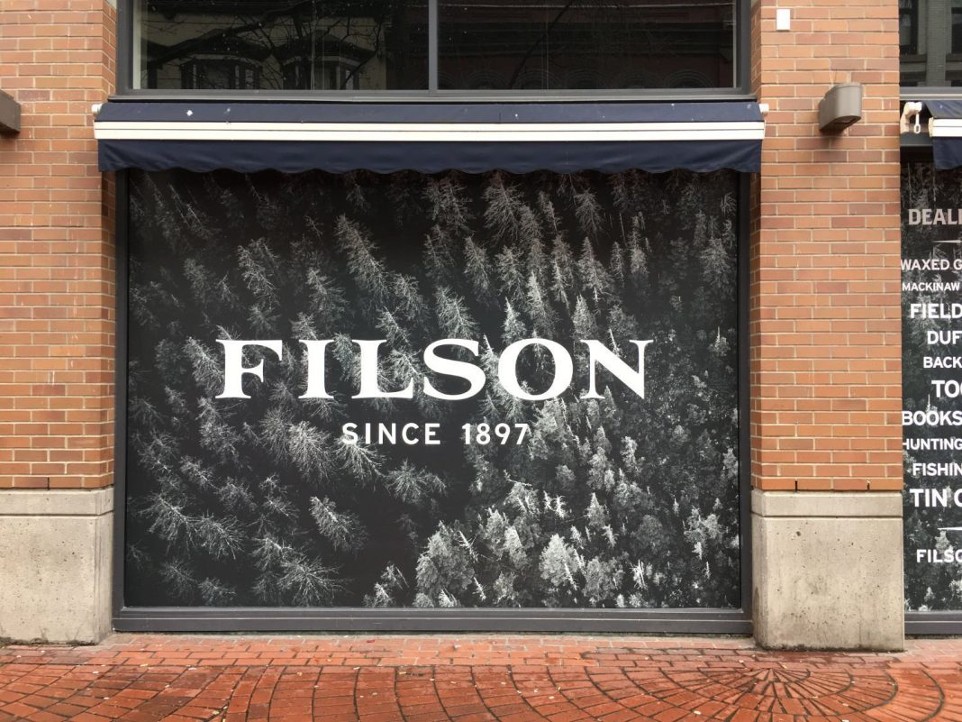 Filson Gastown storefront