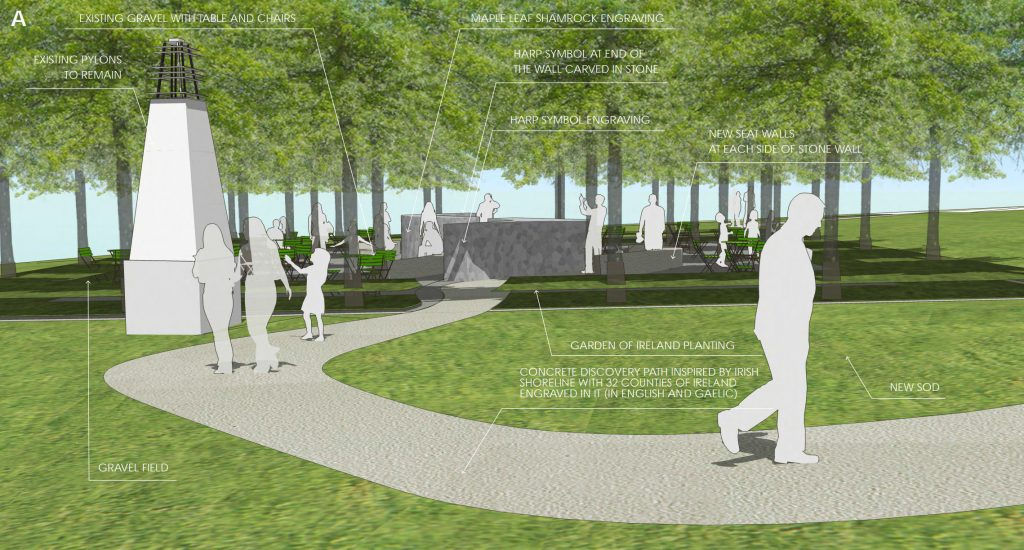 Ireland Canada Monument Design A
