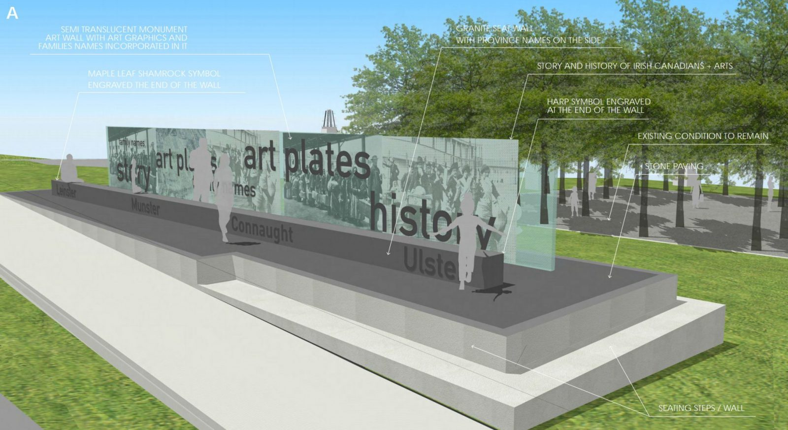 Two designs for proposed Ireland Canada monument in Vancouver revealed