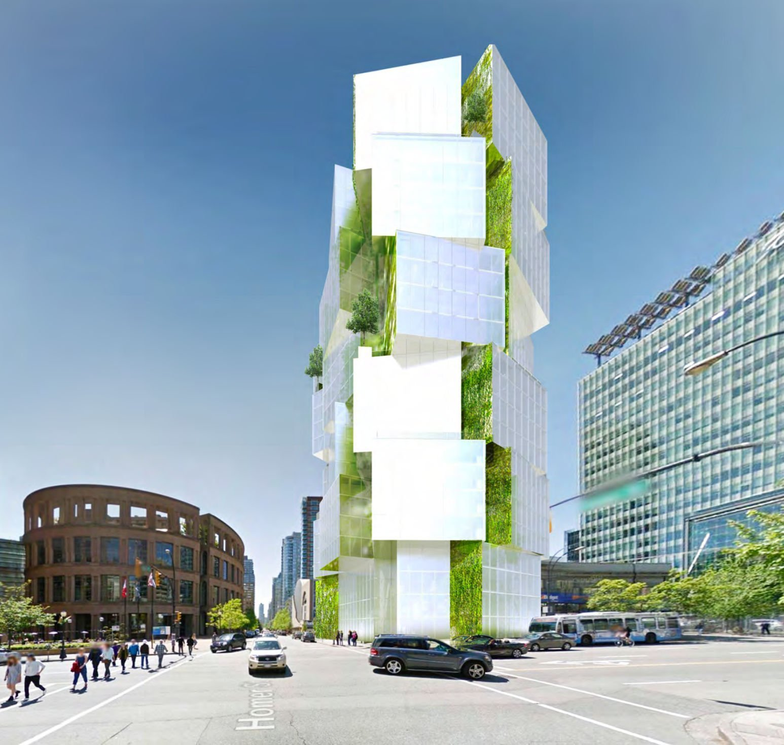 Vancouver Buildings: Office Tower Proposed Across From Vancouver Public Library