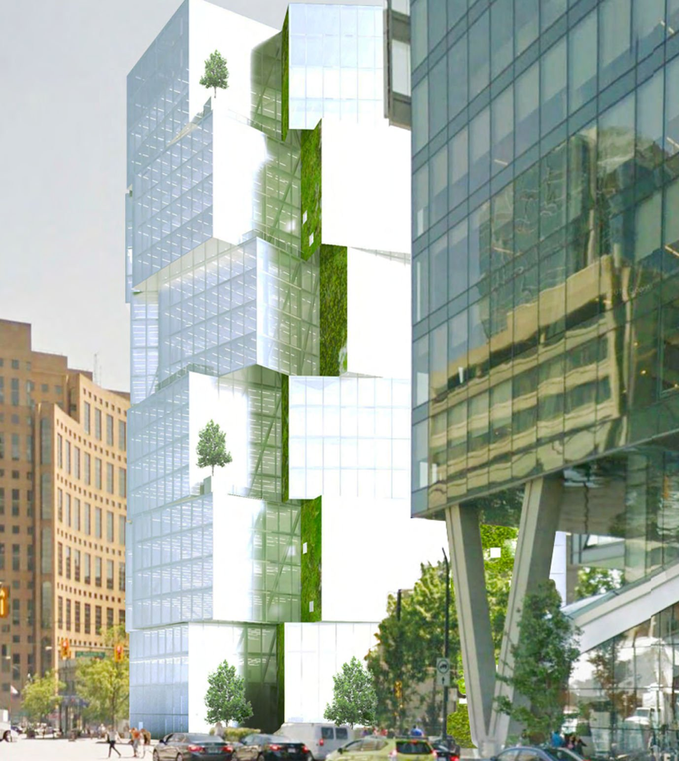 Pearlridge Garden And Tower Rentals: New Renderings Of Stacked Cube Office Tower At 400 W