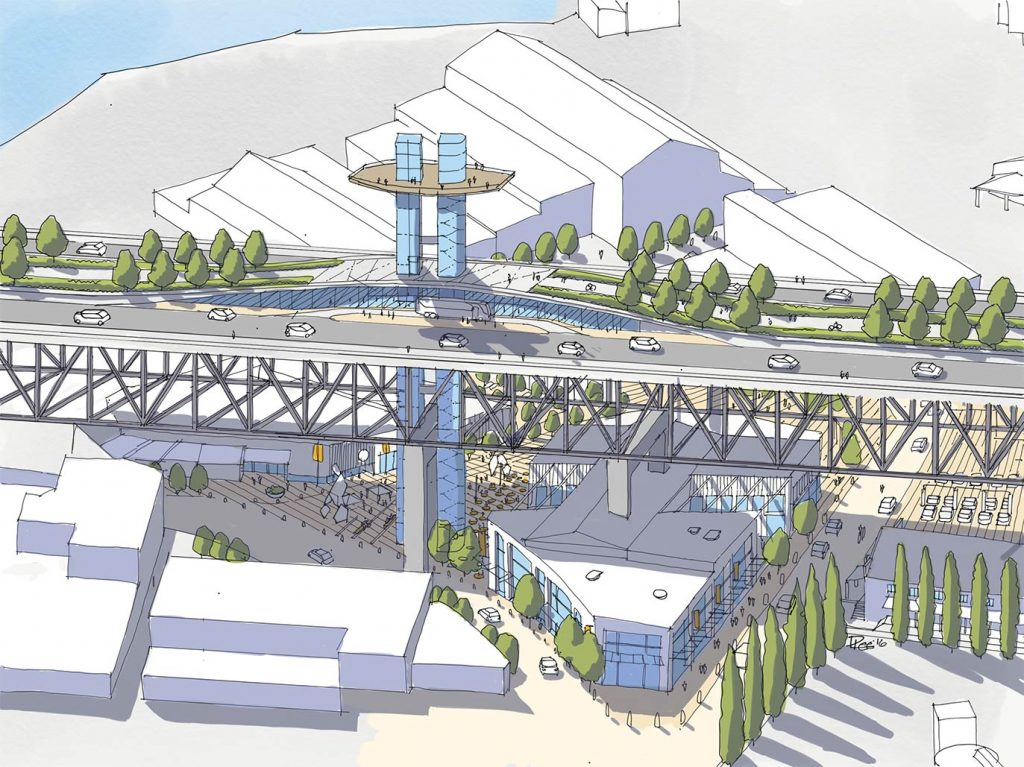 Pedestrian elevator could connect Granville Island to bridge
