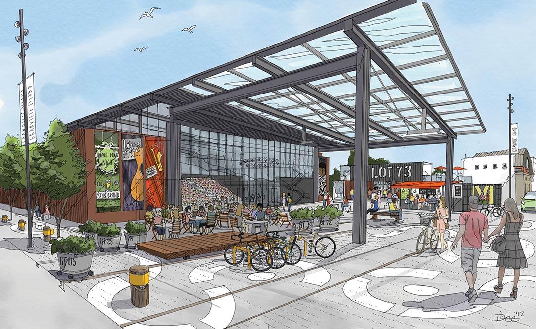 pedestrian elevator could connect granville island to bridge urbanyvr. Black Bedroom Furniture Sets. Home Design Ideas