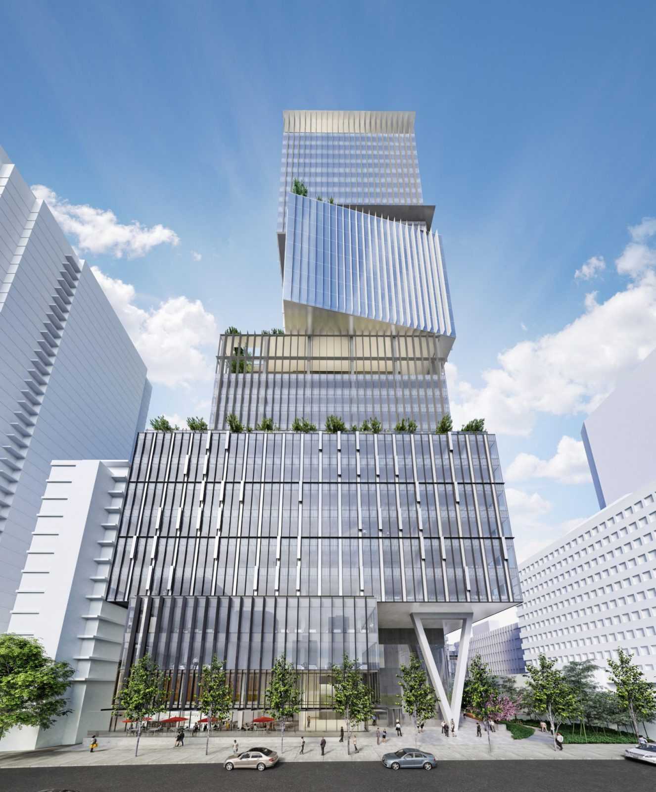 Revised Design For Oxford Office Tower At 1133 Melville
