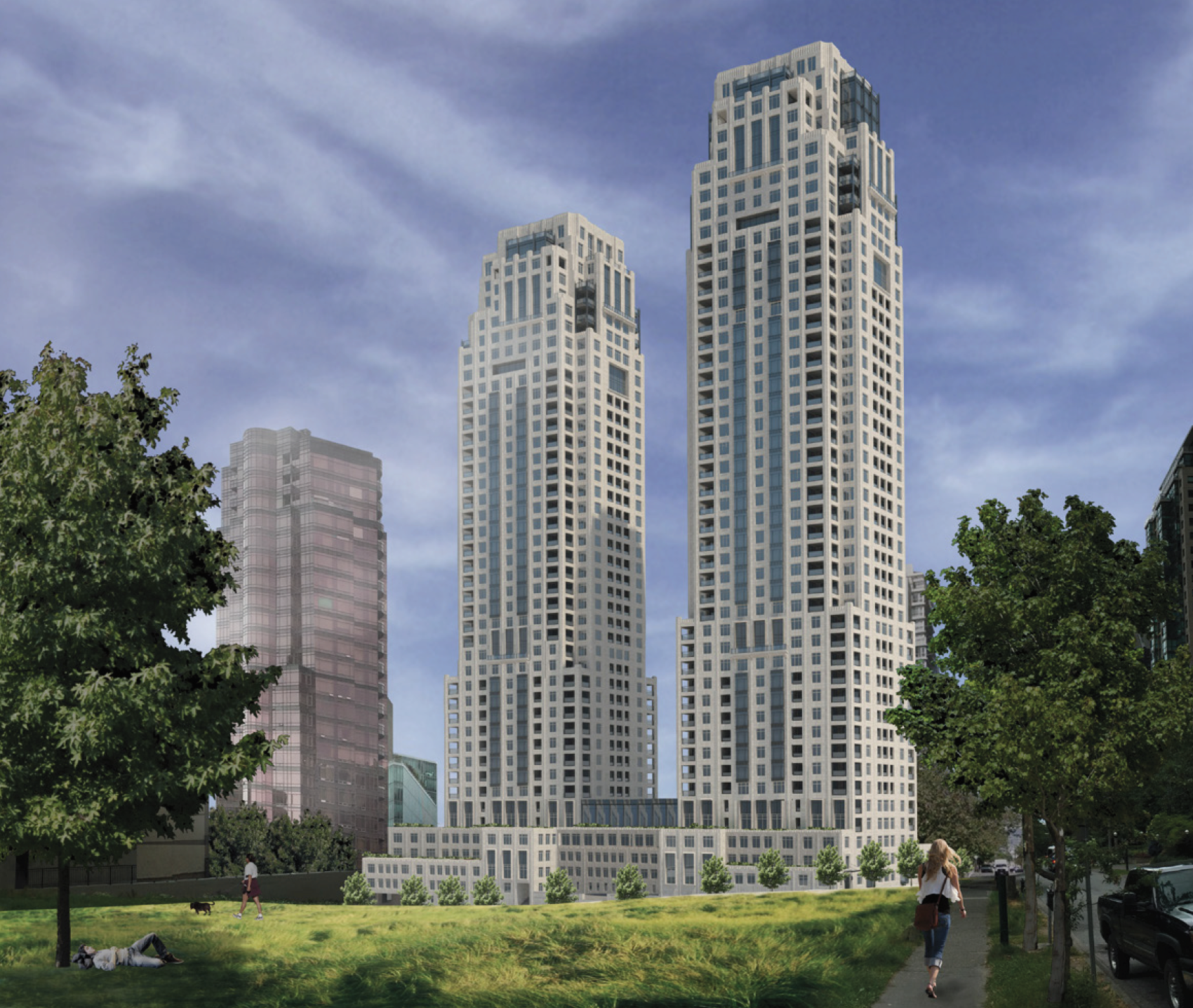 Twin towers designed by nyc architect coming to coal Modern residential towers