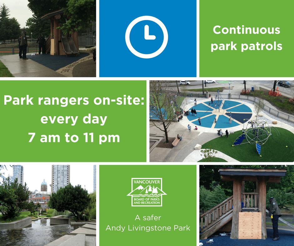 Andy Livingstone Park patrols