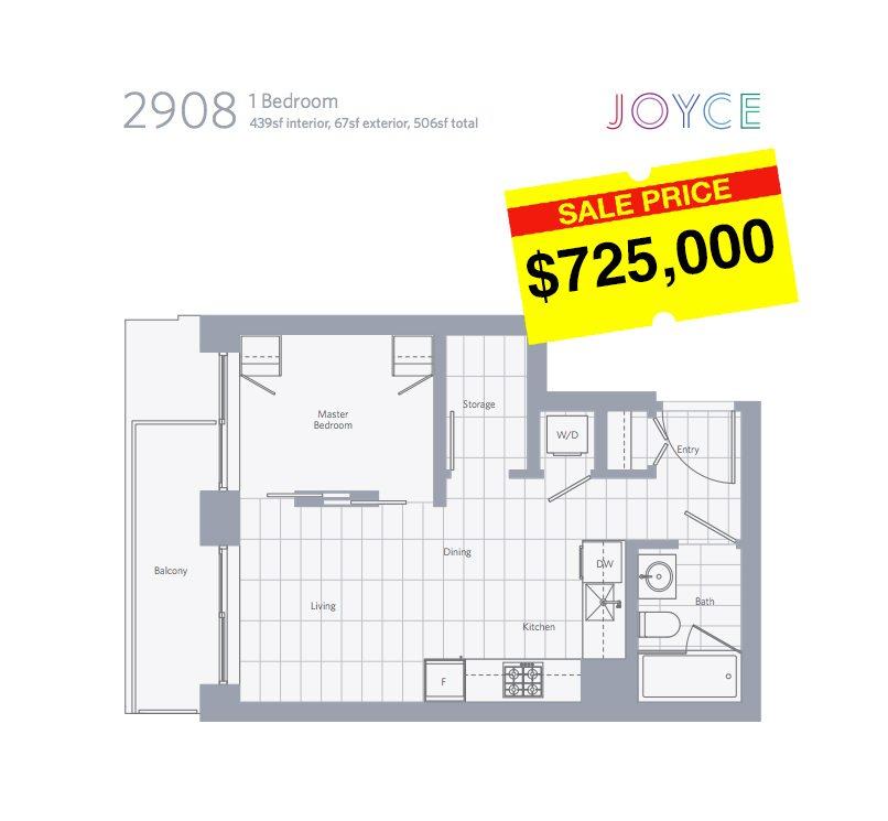 Junior one bedroom floorplan