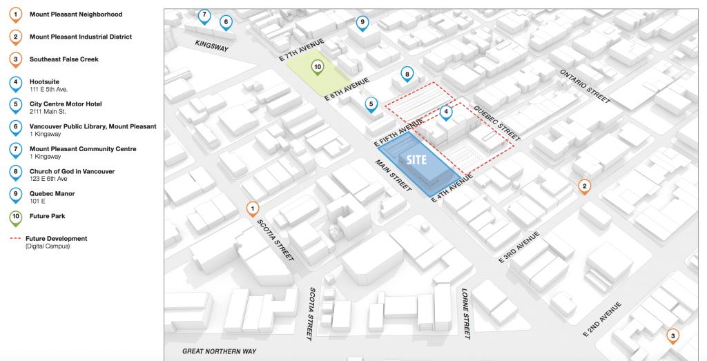Tech campus map