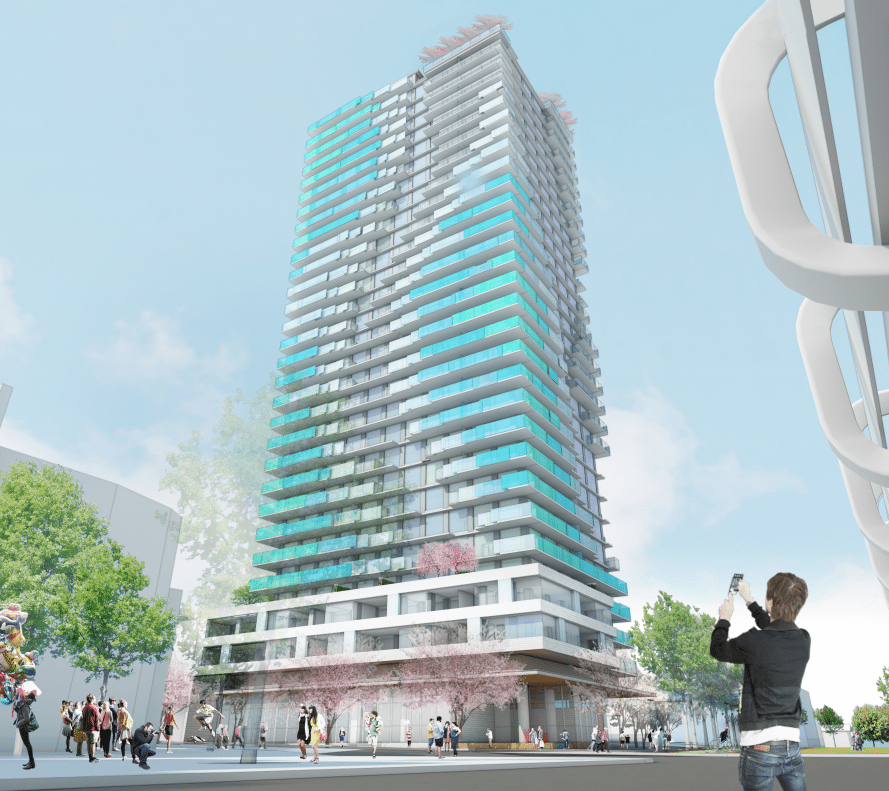 5,000 for 439 sq ft. in upcoming Joyce tower in East Vancouver